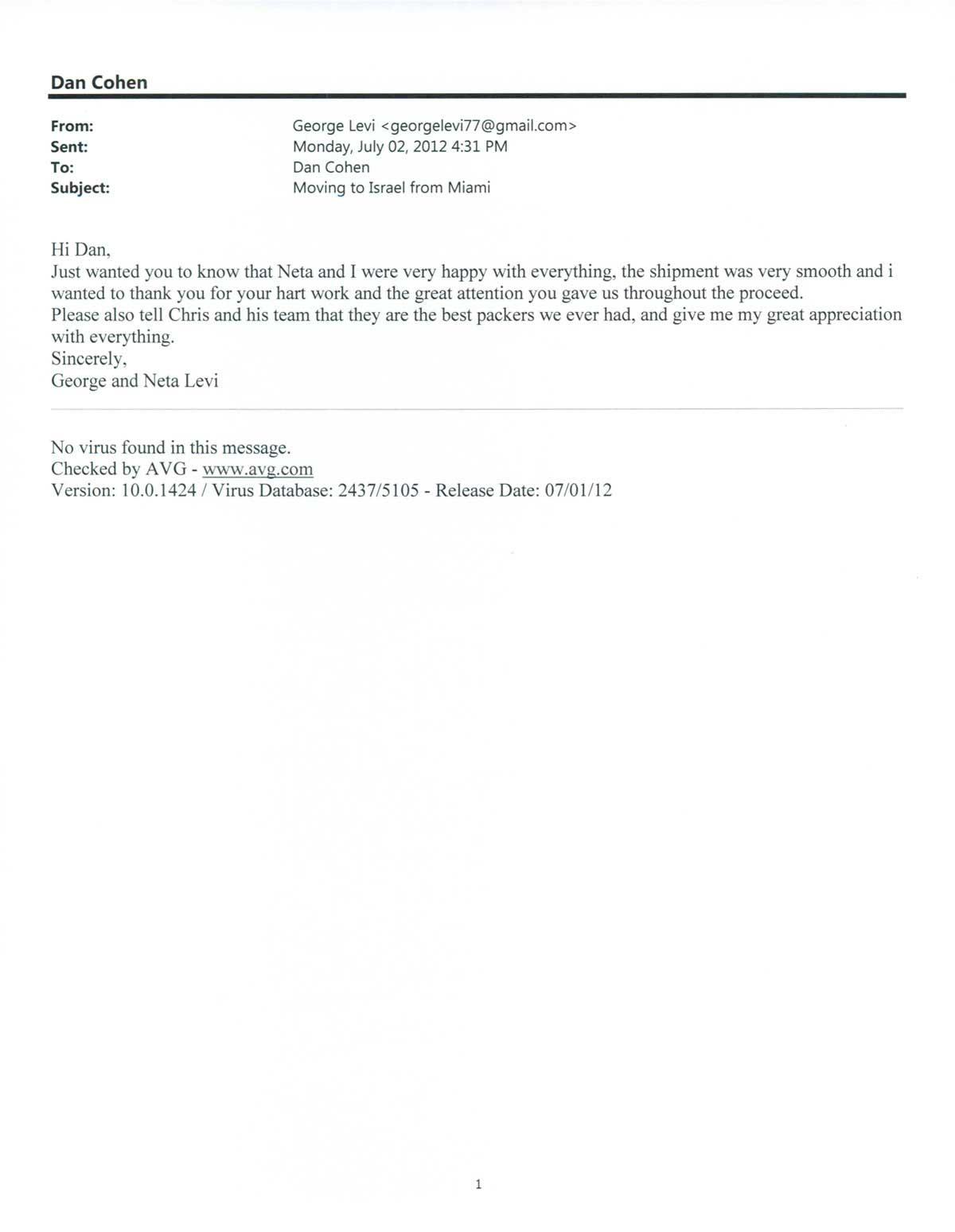 Testimonial #21- George Levi