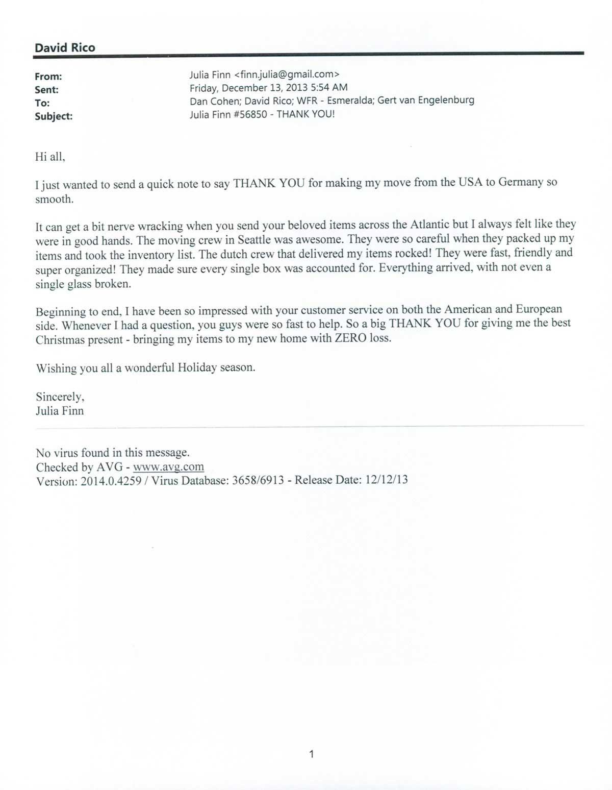 Testimonial #61- Julia Finn
