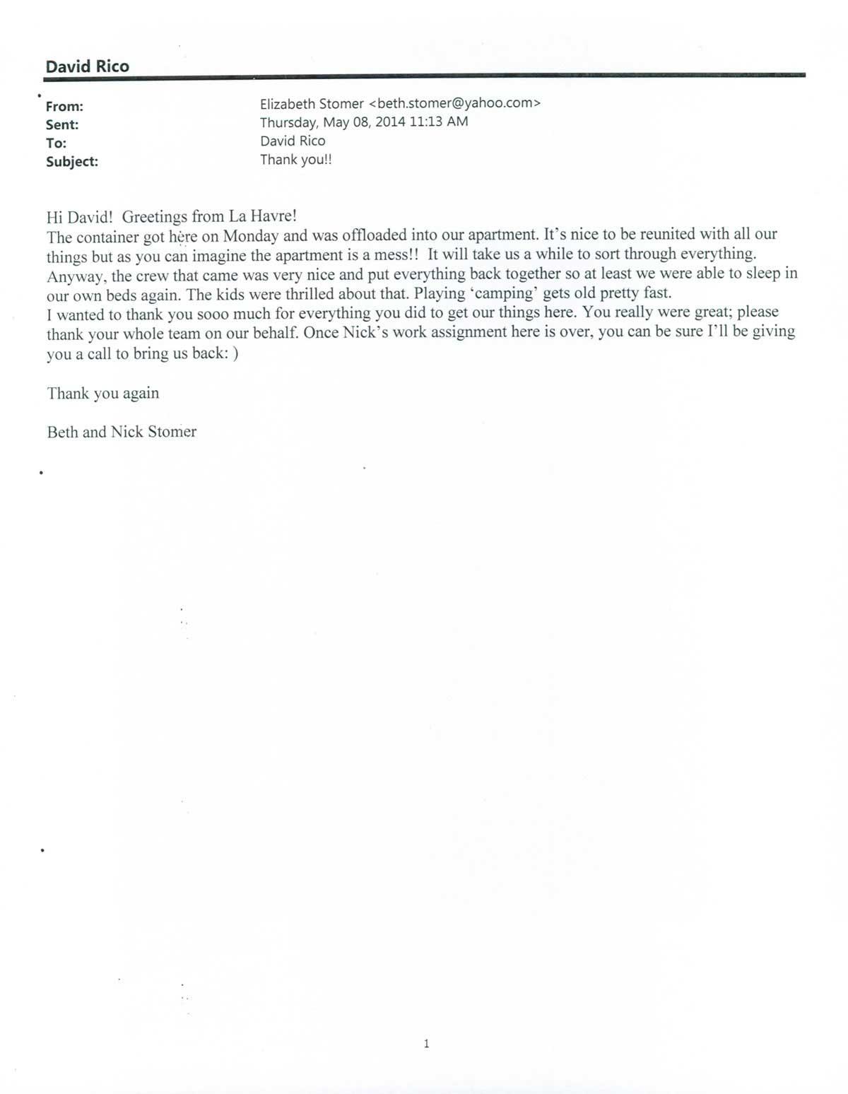 Testimonial #68- Beth Stomer