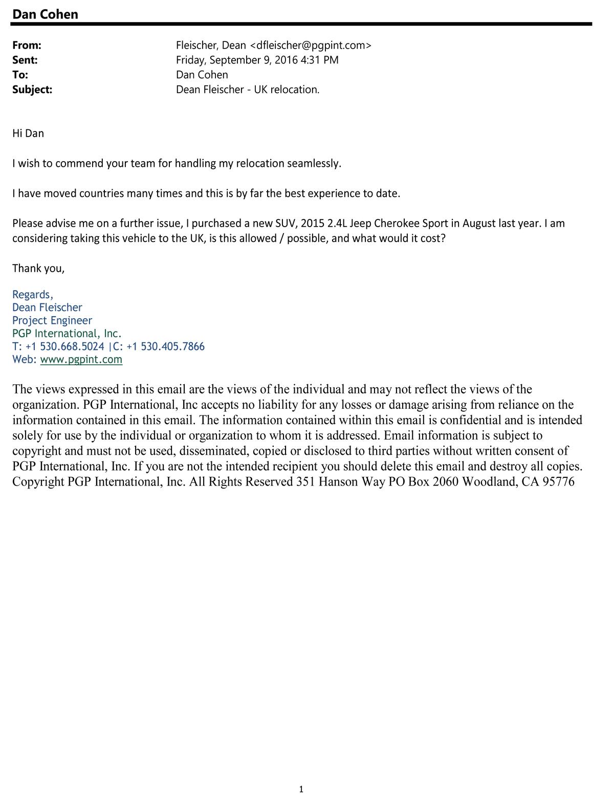 Testimonial 93 Dean Fletcher