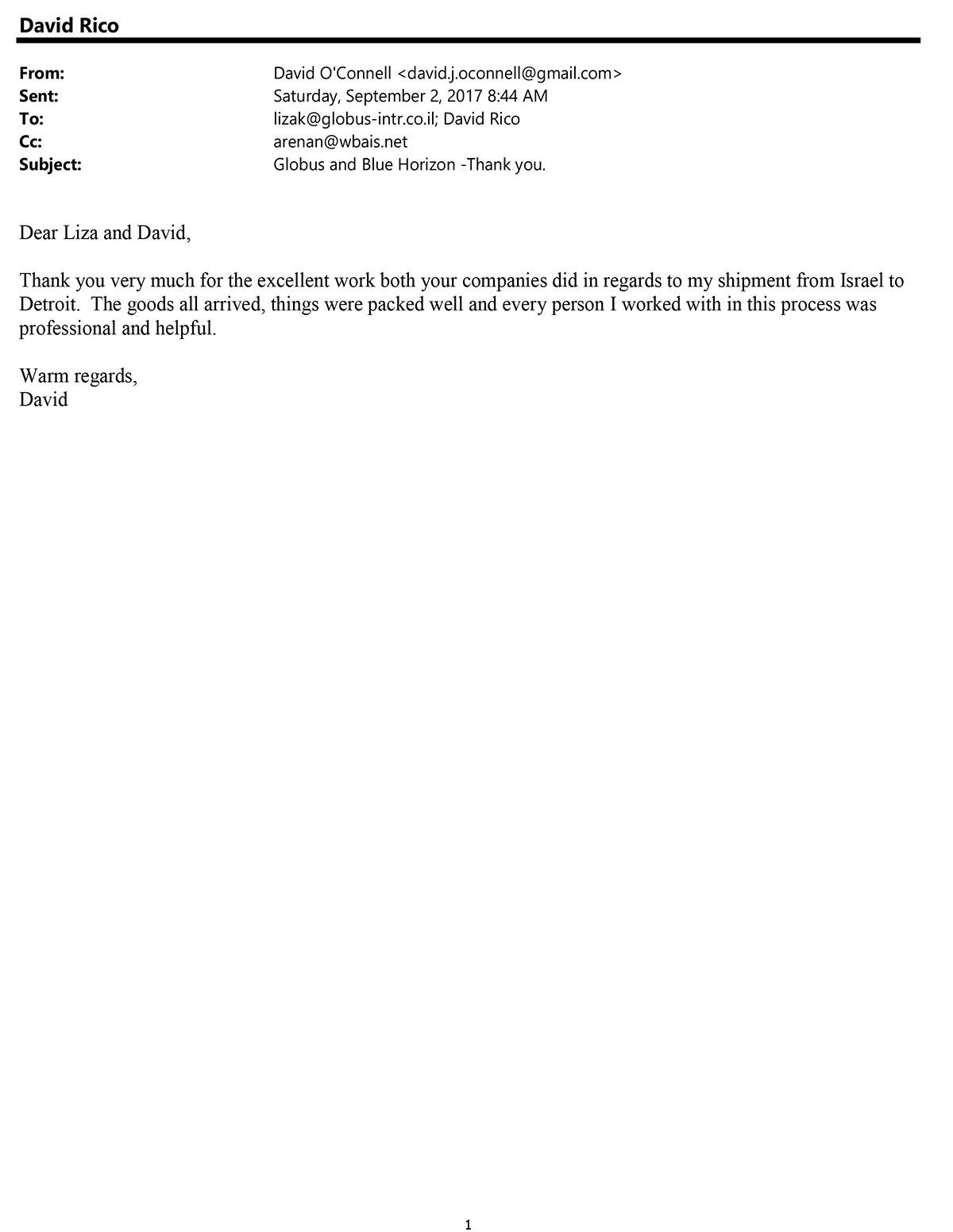 Testimonial 99 David O Connell